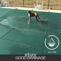 16X32 FT Safety Pool Cover Rectangular In Ground Swimming Pond Clean Mesh