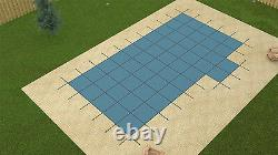 18'x36' ULTRA LITE SOLID Rectangle Swimming Pool Safety Cover with4'x8' Right Step