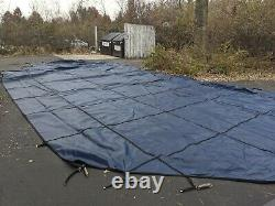 18x36 Blue High Quality Mesh Safety Cover For Inground Swimming Pool (Grecian)