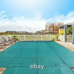 18x36ft Pool Safety Cover Rectangle Inground For Winter Swimming Pool Mesh
