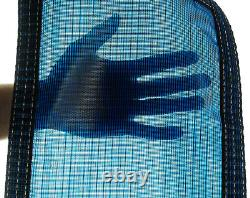 20x40 Rectangle Swimming Pool Winter Safety Cover Blue Mesh 12 YR with4'x8' Step