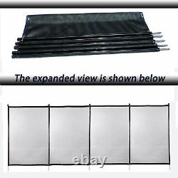 4'x12' In-Ground Swimming Pool Safety Fence Section Accidental Drowning Prevent