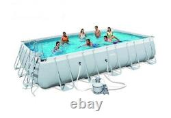 Above-GROUND POOL Set with Safety Ladder, Sand Filter, Mat & Cover 6.71x3.66x1.32m
