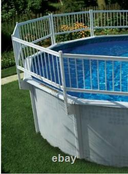 Above Ground Swimming Pool 24 Height Resin Safety Fence (Choose Kit Size)