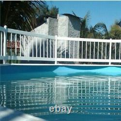 Above Ground Swimming Pool Resin Safety White Color Fence (Various Kits)