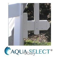 Aqua Select Swimming Pool Resin Safety Fence Base Kit B 3 Sections Color-White