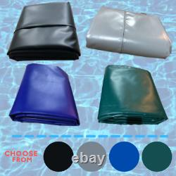 BLUE SWIMMING POOL COVER 15FT X 30FT REINFORCED WINTER DEBRIS COVER 610gsm