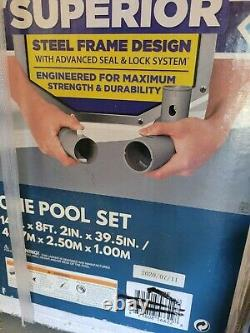Bestway Power Steel 14 x 8.2'x39.5 Oval Pool Set Withfilter pump/safety Ladder