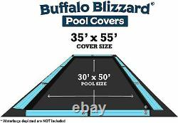 Buffalo Blizzard 30 x 50 Deluxe Rectangle Swimming Pool Winter Cover 10 YR WTY