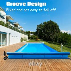 Costway 21 Ft Pool Cover Reel Set Aluminum In-ground Swimming Solar Cover Reel