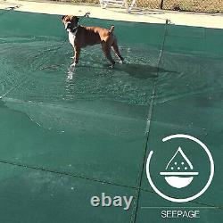 Durable Pool Safety Cover Rectangle Inground for Winter Swimming Pool Mesh US