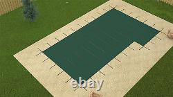 GLI 16' x 32' ValueX SOLID Swimming Pool Safety Cover with Right Side 4 x 8 Step