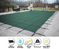 GLI 20 x 40 Secur-A-Pool GREEN MESH Rectangle Swimming Pool Winter Safety Cover