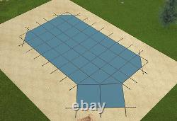 GLI Grecian Ultra Lite Solid Swimming Pool Safety Cover with Right Offset Step