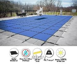 GLI ValueX Blue Solid Swimming Pool Winter Safety Cover with Mesh Drain