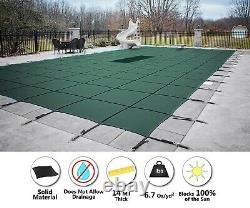 GLI ValueX Green Solid Swimming Pool Winter Safety Cover with Mesh Drain