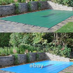 GLI ValueX Green or Blue Solid Swimming Pool Safety Winter Cover with Drain