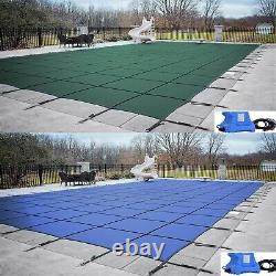 GLI ValueX Solid Green or Blue Swimming Pool Winter Safety Cover with Cover Pump