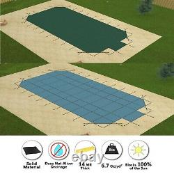 GLI ValueX Solid Rectangle Swimming Pool Safety Cover with 4' Corners & Step