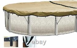 HPI 12' x 18' Oval Above Ground Swimming Pool ULTIMATE ARMORKOTE Winter Cover