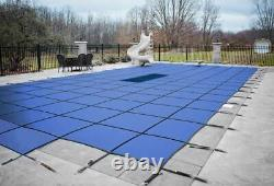 HPI Rectangle AquaMaster Solid Swimming Pool Safety Cover with Drain & Step