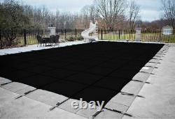HPI Rectangle BLACK MESH In-Ground Swimming Pool Safety Cover (Choose Size)