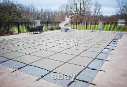 HPI Rectangle GRAY MESH In-Ground Swimming Pool Safety Cover (Choose Size)
