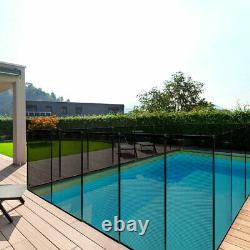 In Ground Swimming Pool Safety Fence Section Prevent Accidental Drowning Black