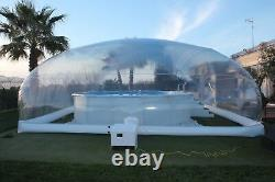 Inflatable TPU Above Ground Swimming Pool Solar Dome Cover Tent With Blower/Pump