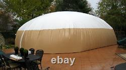 Inflatable TPU Hot Tub Swimming Pool Solar Dome Cover Tent With Blower & Pump