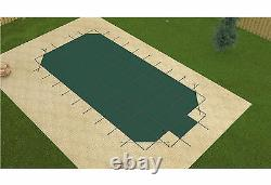 Loop Loc Grecian GREEN MESH Swimming Pool Winter Pool Safety Cover with Step