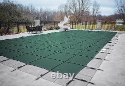 Loop Loc Green Mesh Rectangle Swimming Pool Safety Covers (Choose Size)