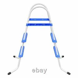 NEW Steel Frame Pool Ladder Non-Slip Steps 34 Sturdy Safety Swimming Pool USA