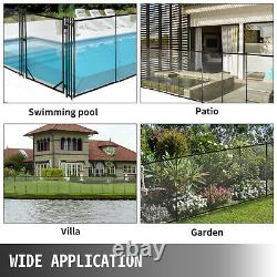 Pool Fence Gate For In-ground Swimming Pool Safety Fence 4x2.5Ft Pool Fence Gate