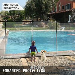 Pool Fences4'x48'In-Ground Swimming Pool Safety Fence Section Prevent Accidental