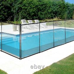 Pool Fences4'x72'In-Ground Swimming Pool Safety Fence Section Prevent Accidental