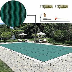Pool Safety Green Cover Rectangle Inground for Winter Swimming Pool 16x32ft USA