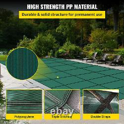 Safety Pool Cover 16X32 FT WithCenter Step Rectangular Swimming Pond