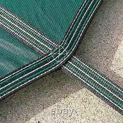 Safety Pool Cover 18X36FT Rectangular In Ground Clean Mesh Swimming Pond