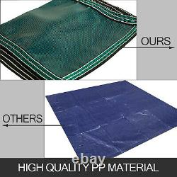 Safety Pool Cover 20X40 FT WithCenter Step Rectangular Brass Evaporation Outdoor