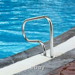 Stainless Steel Swimming Pool Hand Rail Handrail Stair with Base Plate Safety