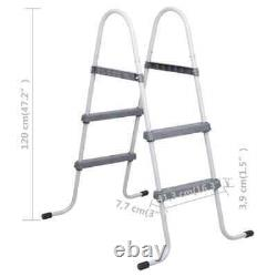 Steel Frame Pool Ladder Non-Slip Steps 34 Sturdy Safety Swimming Pool Ladders