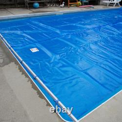 Swimming Pool Cover 15ft X 30ft Made To Measure In The Uk 610gsmm Blue Pvc
