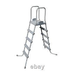 Swimming Pool Ladder Above Ground Heavy Duty Safety for Swimmer Outdoor Backyard