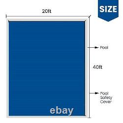 Swimming Pool Safety Cover 20X40 FT Cover Mesh In-Ground