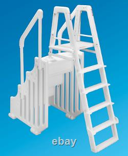 The Ocean Blue Mighty Step and Safety Ladder Set for Above Ground Swimming Pools