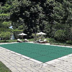 US stock Pool Safety Cover Rectangle Inground for Winter Swimming Pool Mesh