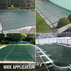 VEVOR Pool Safety Cover Inground Pool Cover 18x38ft, Rectangle Safety Pool Cover