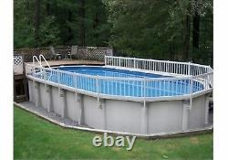 VinylWorks Swimming Pool Resin Safety Fence Base Kit A 8 Sections Color-White