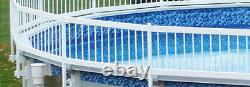 VinylWorks Swimming Pool Resin Safety Fence Base Kit C 2 Sections Color-White